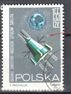 Poland 1964 - Space - error Mi. 1557 - used - Cieszyn, Polska - Poland 1964 - Space - error Mi. 1557 - used - Cieszyn, Polska