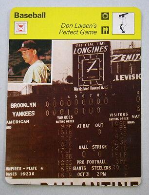 1979 Don Larsen Perfect Game New York Yankees Sportscaster MLB Card -
