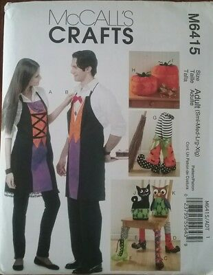 McCall's M6415 SEWING PATTERN Halloween APRONS PUMPKINS CAT OWL BOOTS - Owl Halloween Pumpkin Patterns