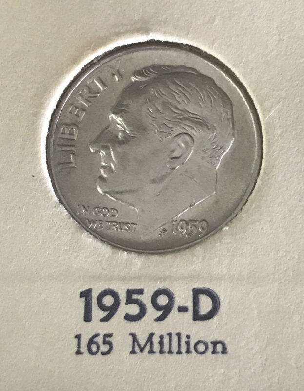 Compare This 1959 D BU Roosevelt Dime  *90% SILVER*  *FREE SHIPPING*