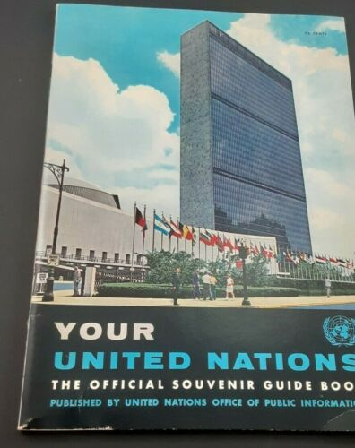 United Nations Official Souvenir Guide Book, 1958 edition, 65 pages