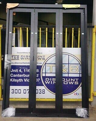 Aluminium Bi-fold Door 2430H x 1805W (Item 5101) Black
