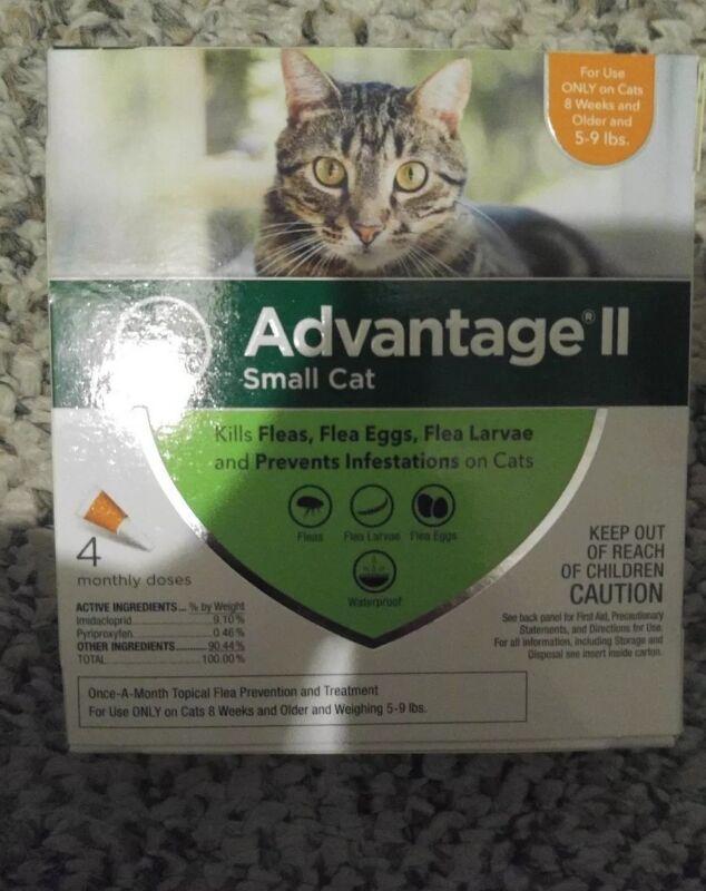 Bayer Advantage II for Small Cats 5-9 Lbs - 4 Pack -  FLEA TREATMENT CONTROL