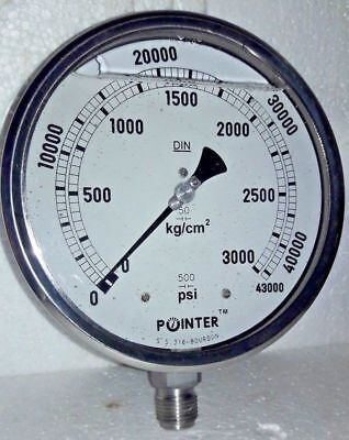 High Pressure Gauge Dual Scale 0-3000 Bar 0-43000 Psi Ideal For Common Rail New