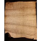 1308 - Parchment Period PHILIPPE IV - Signed 709 Years Old Manuscript in Latin