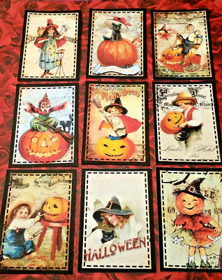 9 Vintage Halloween~Pocket Cards~No Protector~Scrapbooking~Card Craft Making](Making Halloween Cards)