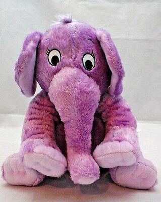 Lila Elefant Dr Seuss der Nase Buch Bestickt Augen Plüsch 11 Plüschtier Lovey ()
