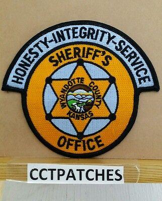 WYANDOTTE COUNTY, KANSAS SHERIFF (POLICE) SHOULDER PATCH KS