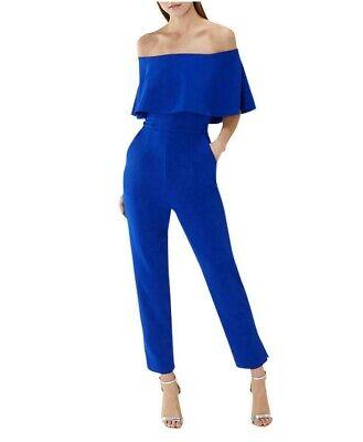 Coast Harlem Azul Bardot Mono Cóctel Vestido Todo en Uno Ocasión 6...