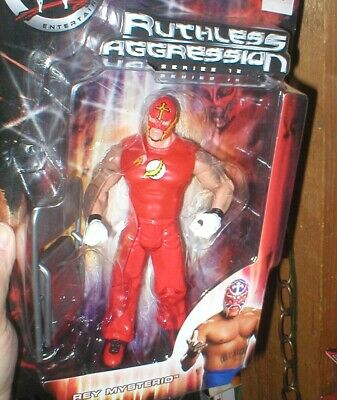 WWE REY MYSTERIO RUTHLESS AGGRESSION SERIES 12, UNIQUE OUTFIT, UNOPENED, JAKKS ()