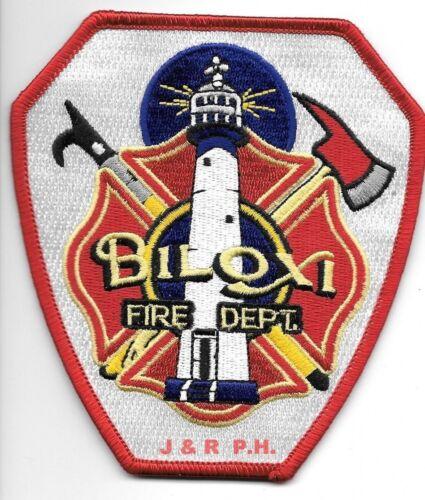"Biloxi  Fire Dept., Mississippi  (4"" x 4.5"" size) fire patch"