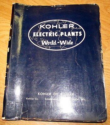 Vintage 1966 KOHLER Electric Plants Industrial Electrical Catalog J595