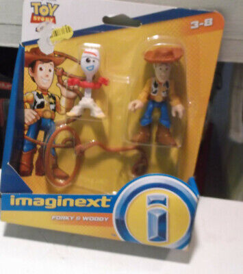 Imaginext Disney Pixar Toy Story 4 WOODY & FORKY Figure Pack Fisher Price GBG90