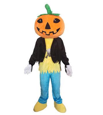 Plush Pumpkin Mascot Costume Halloween Costume Party Dress](Pumpkin Mascot Costume)
