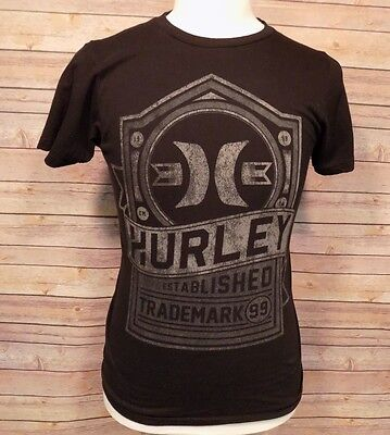 Hurley Premium Fit Men's T Shirt Short Sleeve Cotton Black Size S