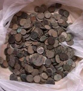 UNCLEANED ROMAN COINS FROM THE MIDDLE EAST AND ISRAEL , 10  PER bidding/buying!