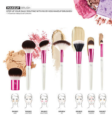 (Buy 1 Get 1, 50% off) Ruby Kisses by KISS Makeup Brushes 14 Styles