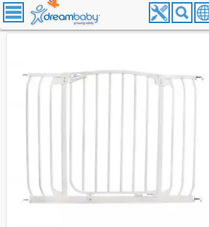 Dreambaby safety gate - fits 97 to 108 opening