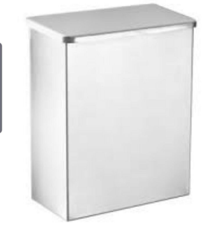Columbia ND-111-200 Sanitary Napkin Disposal Receptacle, Stainless Steel
