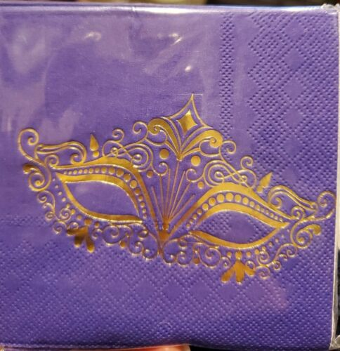 """Colorful Mardi Gras Masks Beads 8 ct 10/"""" Dinner Plates Paper Square"""