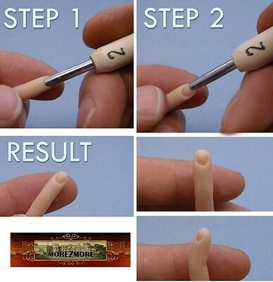 M00405 MOREZMORE Tools AMC Fingernail 3.5mm Sculpt Miniature Clay Doll A60