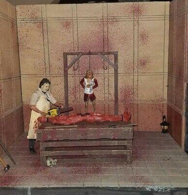 CUSTOM HANDMADE TEXAS CHAINSAW  MASSACRE 6 INCH SCALE ACTION Figure Diorama NECA