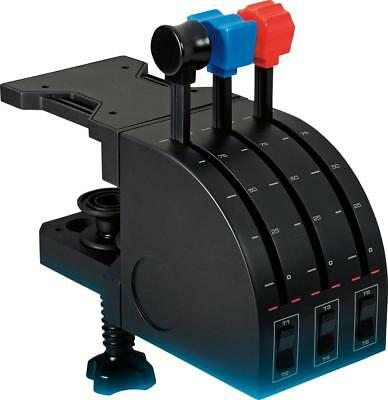 Saitek - Pro Flight Throttle Quadrant Gaming Controller for PC - Black ()