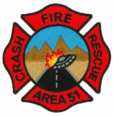Area 51 Crash Fire Rescue Patch / Aircraft / ARFF / UFO / Firefighter / Military