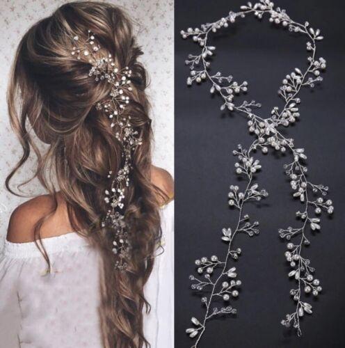 Braut Haarschmuck Haargesteck Tiara Dame Hochzeit Kopfschmuck Diadem Perlen P187