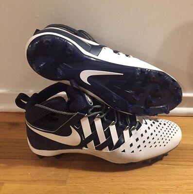 Nike Huarache Lacrosse Cleats 807142-410 - Sz 13 - Navy/White