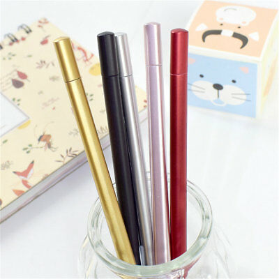 8pcs Office School Kids Business Metal Sense Ballpoint Writing Gel Pens Gifts