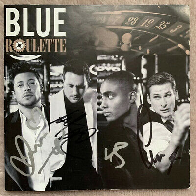 Usado, BLUE : Roulette. Hand Signed Cd Booklet (no Cd) - Signed By All Four segunda mano  Embacar hacia Spain