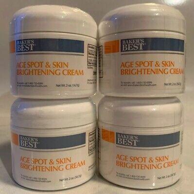 NIP Lot 4 Baker's Best Age Spot & Skin Brightening Cream 2 oz. Each Exp.