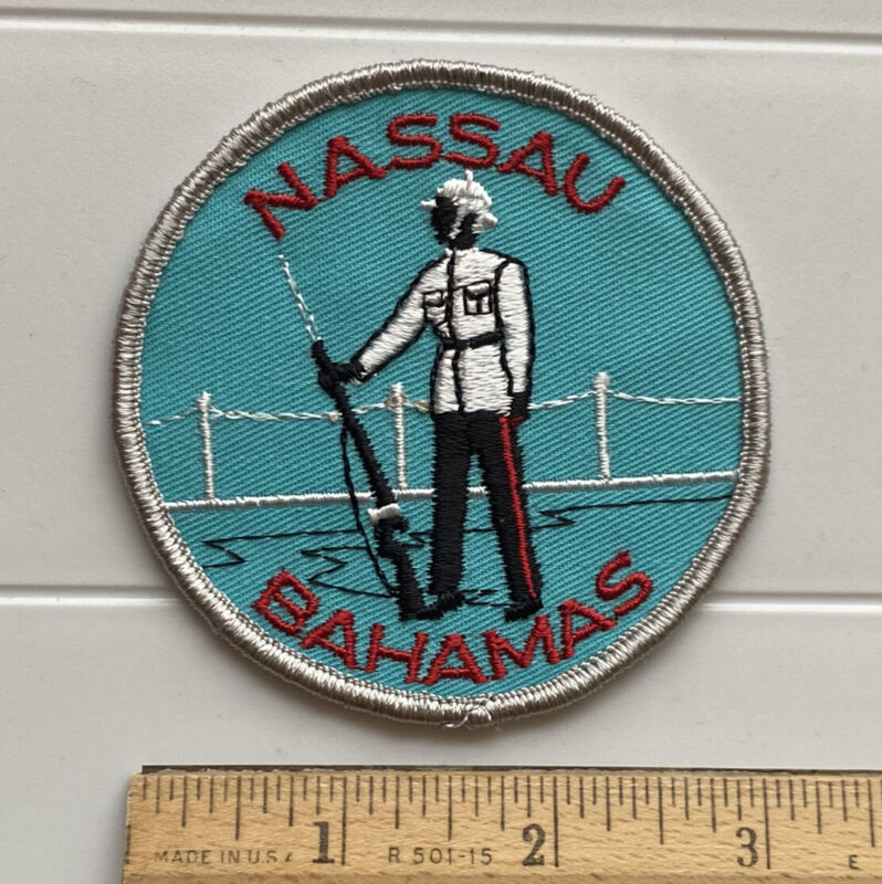 Nassau Bahamas Capital New Providence Soldier Blue Round Embroidered Patch Badge