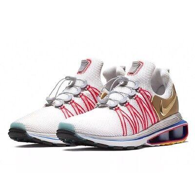 new style 01de9 8635a Nike Shox Gravity AQ8553-009 Vast Grey Metallic Gold Running Shoes Mens Size  6