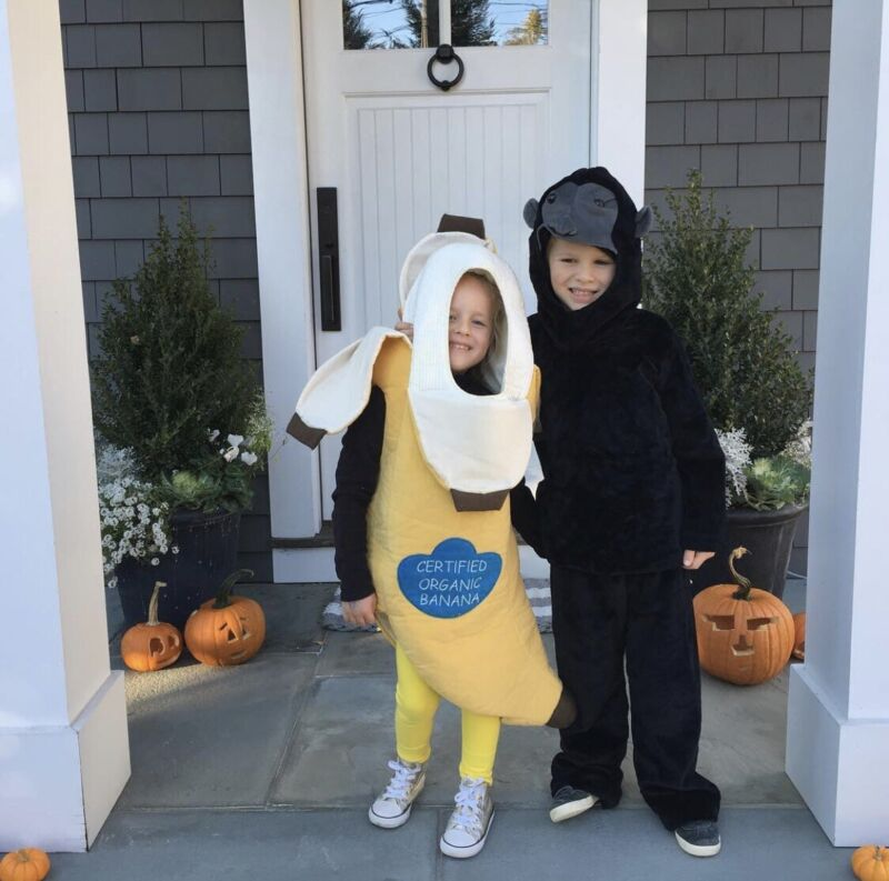 Pottery Barn Kids Gorilla Costume 4-6 Boys Girls Halloween EUC