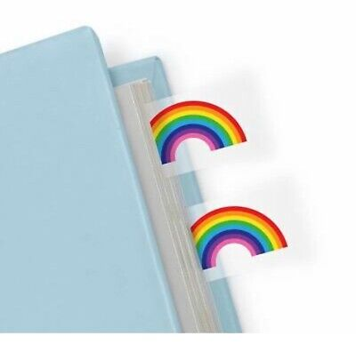 Mustard Novelty Rainbow Page Book Markers 100 Count