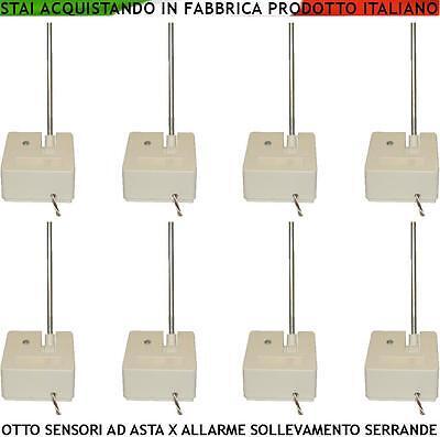Switch Asta Allarme Serranda Avvolgibile 8 Pz Antifurto Tapparelle Porte Scorrev