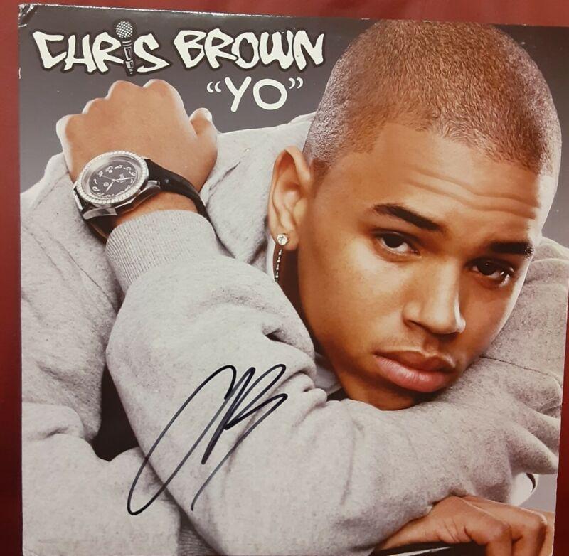 """CHRIS BROWN AUTOGRAPHED """"YO"""" ALBUM!!!"""