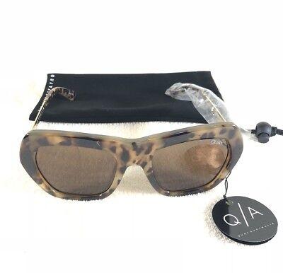 Quay Australia Common Love Tort And Brown Cheetah Frame Cat Eye Sunnies