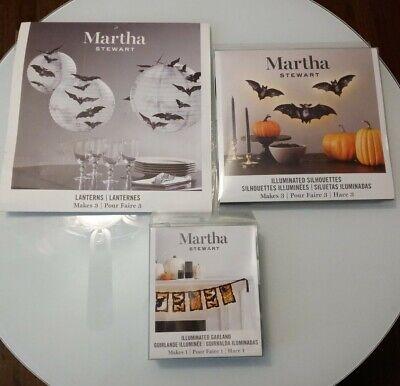 Martha Stewart Crafts® Halloween Bat Decorations 3 Pcs. Light Up/Garland/Lantern