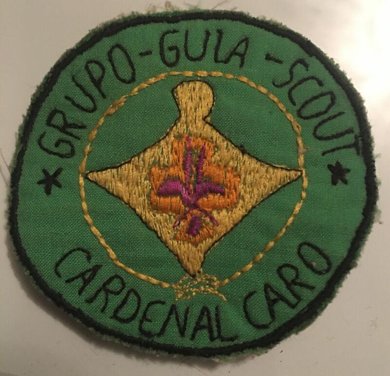 Grupo Guia Scout Cardenal Caro Hand Made International Spanish Boy Scouts Patch