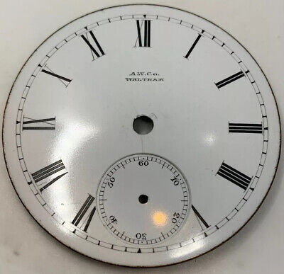 Waltham Pocket Watch Dial 18s Keywind 1877 Model Imperfect See Pics F3276