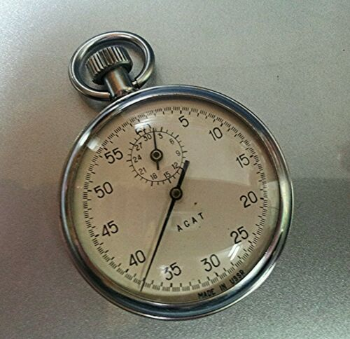 Купить Stopwatch AGAT Секундомер Pocket Mechanical Made in USSR АГАТ RARE