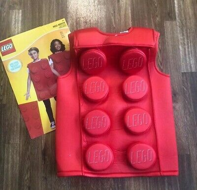 Lego Brick Halloween Costume (Red Brick Classic Lego Kids Halloween Costume NWT SZ: Small 4-6X By)