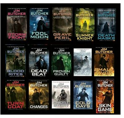 A COMPLETE Jim Butcher Dresden Files Series FIFTEEN Book Set Paperback New 1-15