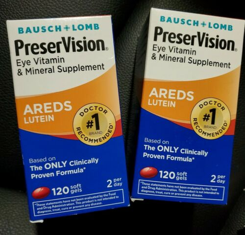 LOT OF 2 PreserVision Areds Lutein Eye Vitamin 120 x2 240 So