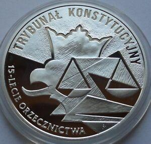 2001 Poland Polen 10 zl Silver 925 Trybunał Konstytucyjny - <span itemprop='availableAtOrFrom'>Bialystok, Polska</span> - 2001 Poland Polen 10 zl Silver 925 Trybunał Konstytucyjny - Bialystok, Polska
