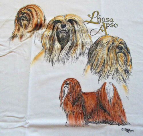 "Lhasa Apso T-shirt "" White "" 2XL ( 50 ~ 52 )"
