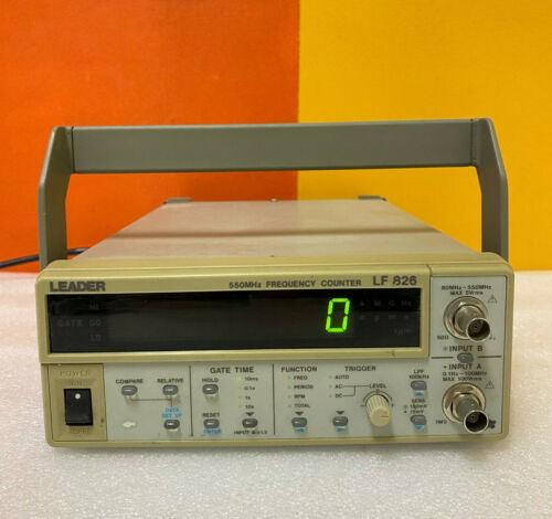 Leader LF826 0.1 Hz to 550 MHz, Dual-Input Frequency Counter